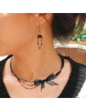 "Necklace ""Black bow"""