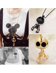 """Pendant """"Pop-eyed - skeleton with a bell"""""""