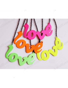 "Pendant ""Fluorescent Love"""