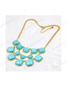 "Turquoise triple necklace ""Marzipan"""