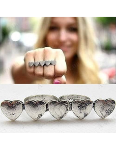 "Ring on 2 fingers ""Hearts"""