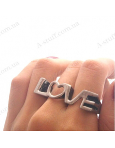 "Double ring ""Love is"""