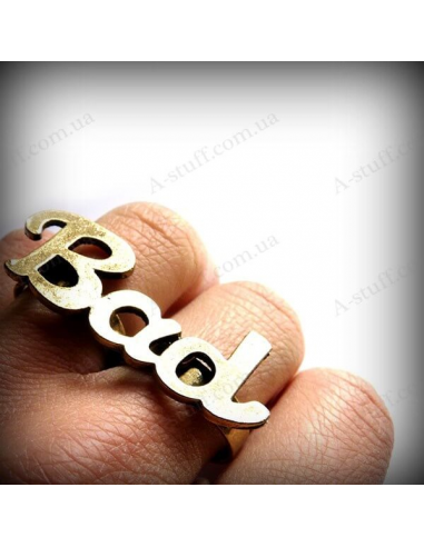"2 finger ring ""Bad"""