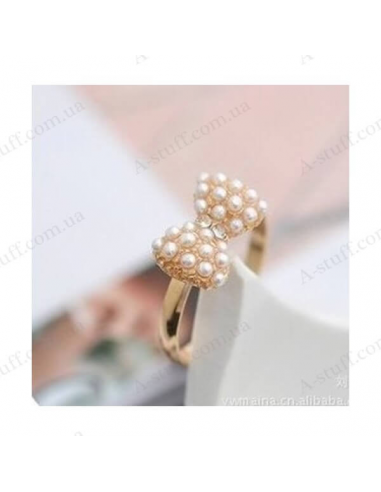 "Ring ""Bow with pearls"""