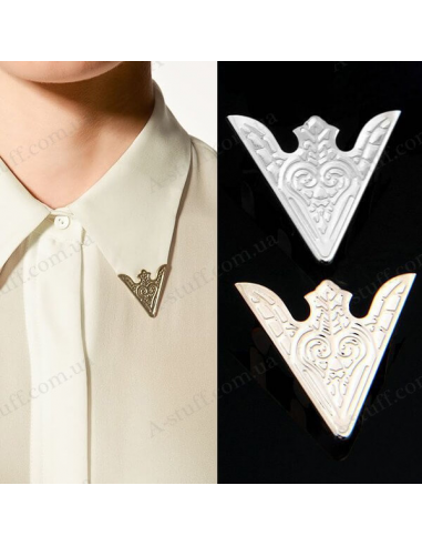 "Metal corners clips on collar ""Arrow"""