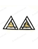 "Metal corners clip on collar ""Triangles"""