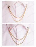 "Tips with a chain on a shirt collar ""Umbrella"""
