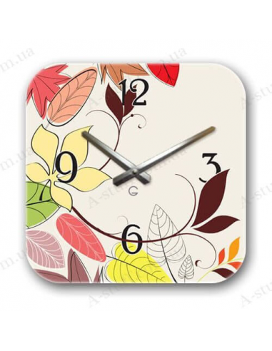 "Designer wall clock ""Autumn"""