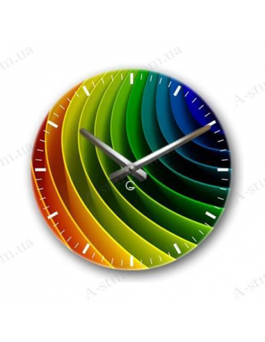 "Designer wall clock ""Spectrum"""