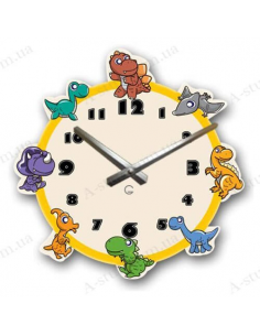 "Children's wall clock ""Dinosaurs"""