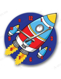 "Children's wall clock ""Rocket"""