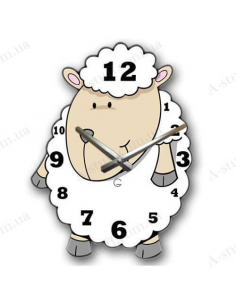 "Children's wall clock ""Sheep"""
