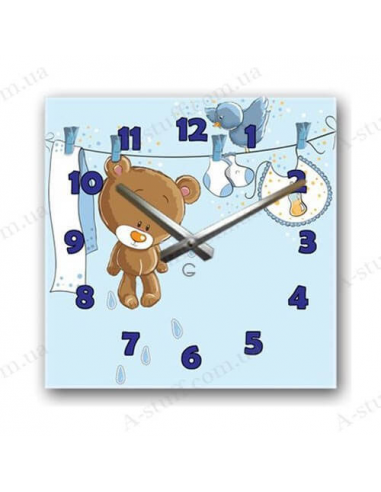 "Children's wall clock ""Teddy Bear"""