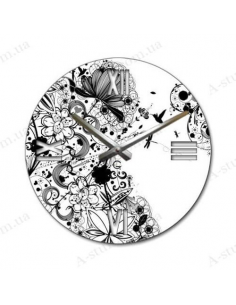 "Beautiful wall clock ""Moire"""