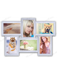"Multiframe for 6 photo ""Classic 6"", white"