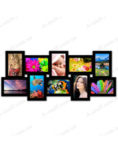 """Multiframe for 10 Photos """"History 10"""", black"""