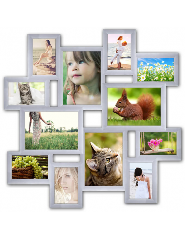 "Multiframe for 12 Photos ""Little journey"", white"