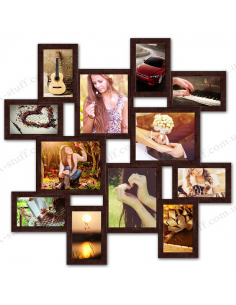 "Multiframe for 12 Photos ""Little journey"", wenge"