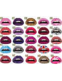 Sticker (temporary tattoos, tattoo) for lips