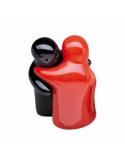 """Salt & Pepper shakers Hugging """"Yin Yang"""""""