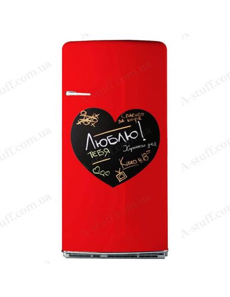 "Magnetic board on the fridge for chalk ""Heart"""