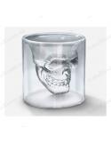 """Прозрачная рюмка - череп для шотов """"Doomed"""""""