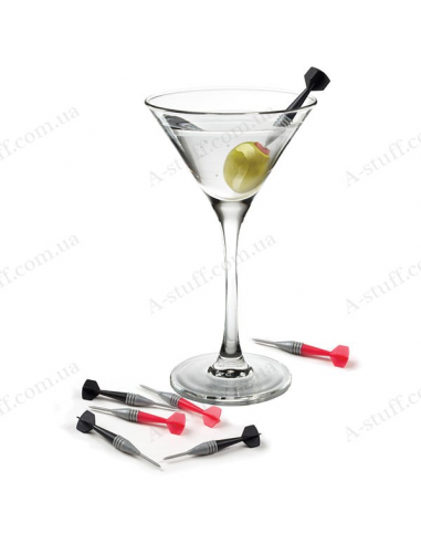 """Skewers for cocktails, canapes and fruit """"Darts"""""""