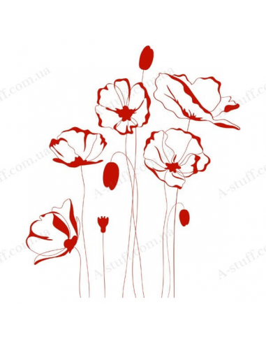 "Vinyl sticker ""Red Flowers"""