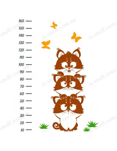 "Stadiometer for wall ""Funny Kittens"""