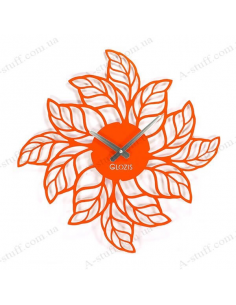 "Metal wall clock ""Leaves"""