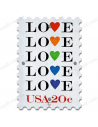 """Poster Stamp """"Love"""""""
