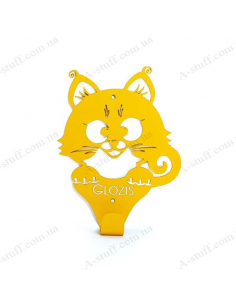 "Wall Hanger ""Kitty Yellow"""