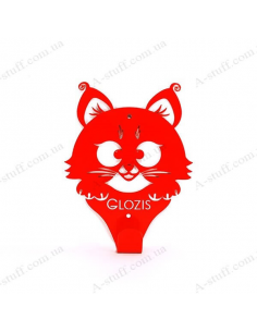 "Wall Hanger ""Kitty Red"""