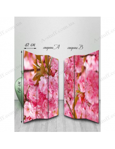 "Double-sided folding screen ""Pink"""
