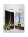 "Double-sided folding screen ""Day and Night in Paris"""