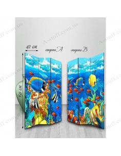 "Double-sided folding screen ""Underwater inhabitants"""