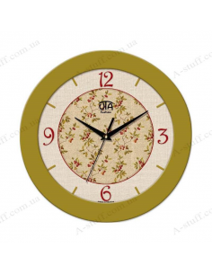 Wall clock with flowers