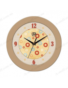 Wall clock with circles