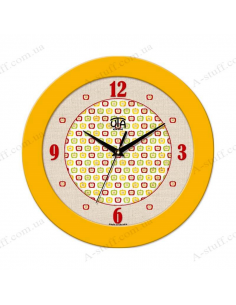 Wall clock with apples