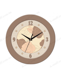 Wall clock with buds