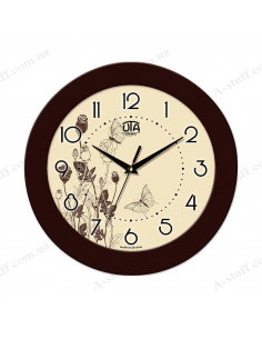 "Wall clock ""Flowers and Butterflies"""