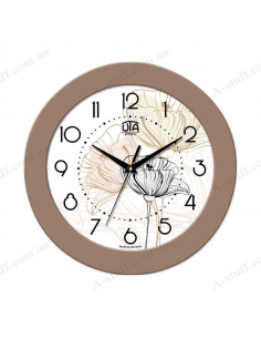 "Wall clock ""Beautiful flower"""