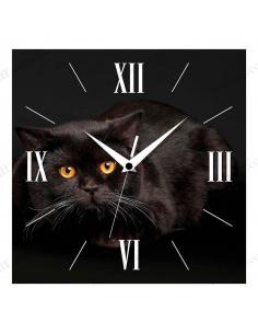 """Настінний годинник """"Чорний кіт"""""""