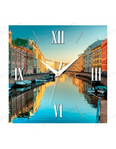 "Wall clock ""City on water"""