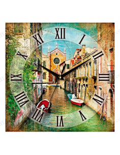 "Wall clock ""City on water - Vintage"""