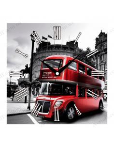 """Настенные часы """"Красный автобус"""""""