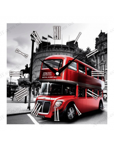 """Wall clock """"Red Bus"""""""