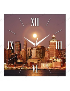 "Wall clock ""Night city"""