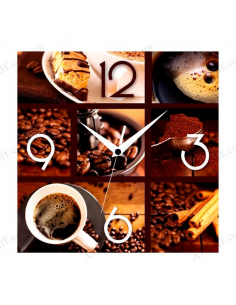 "Wall clock ""Fragrant coffee"""