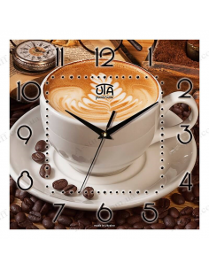 "Wall clock ""Coffee with crema"""